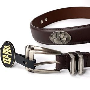 ZEP-PRO Clemson Tigers Brown Leather Belt Size 32
